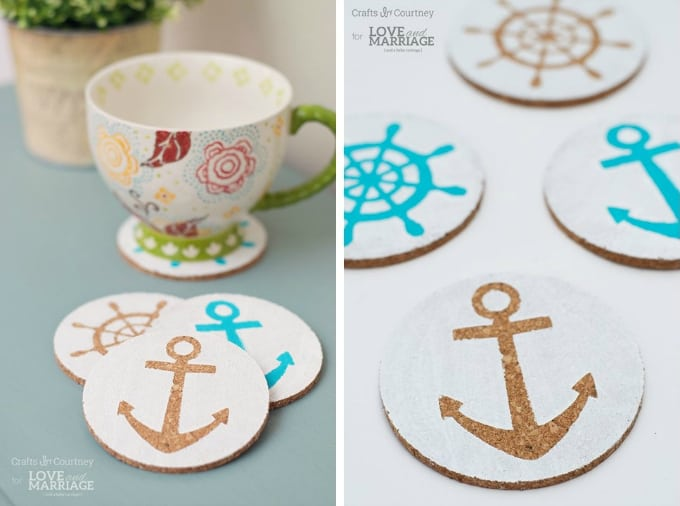 nautical diy coasters