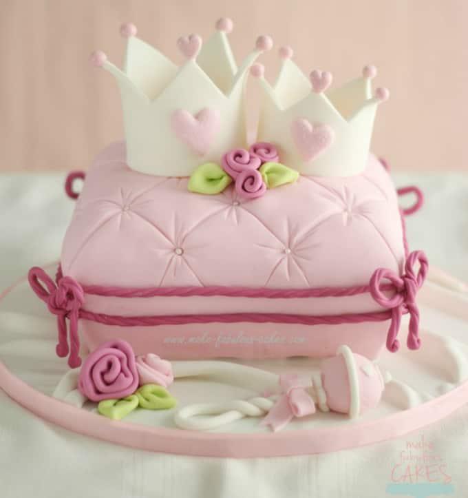 pink pillow cake