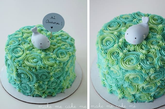 whale cake topper