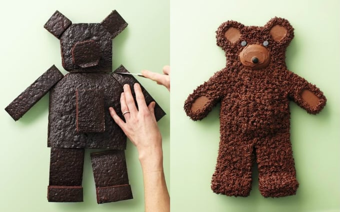 bear-shaped cake