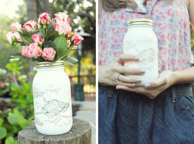 doily lace vase