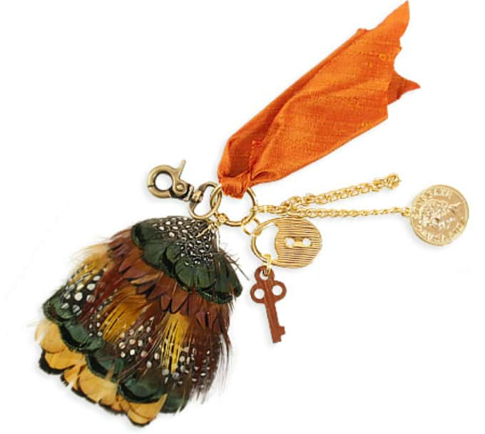 feather keychain