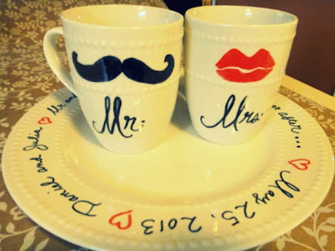 05c3d2041d5 From Handmade Charlotte. mr and mrs sharpie mugs