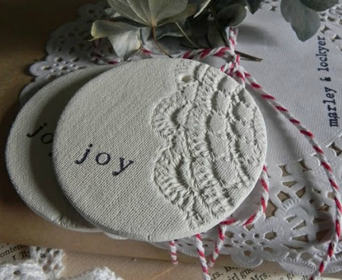 doily christmas decorations