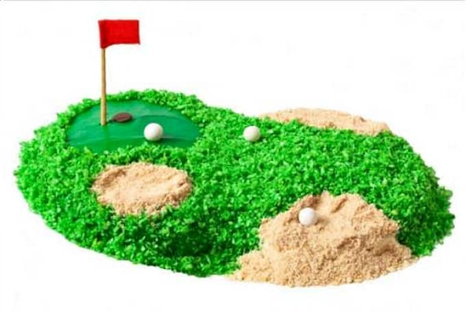golf course inspired cake