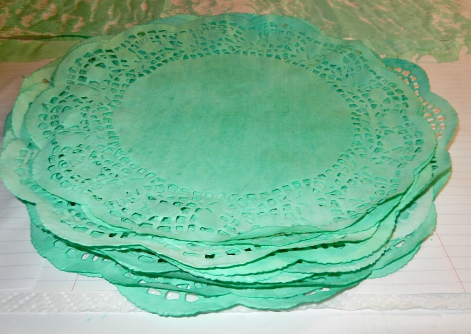 dyed doily placements