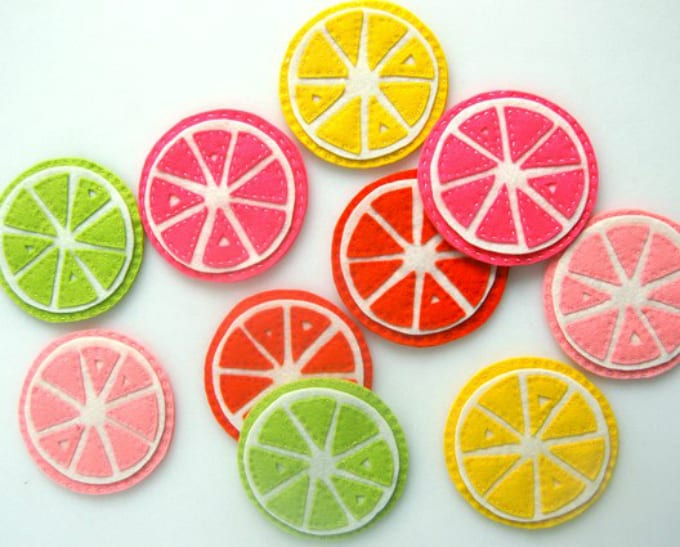 citrus shaped coasters