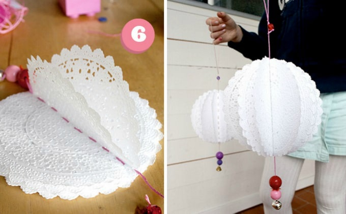 paper doily lanterns
