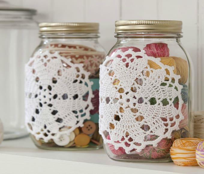 doily ed jars