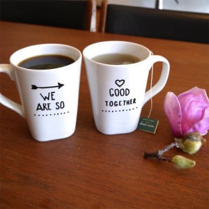 romantic sharpie mug