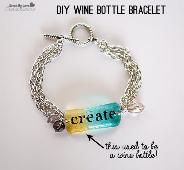 diy wine bottle bracelet