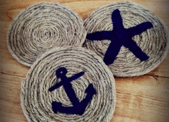 nautical rope coasters