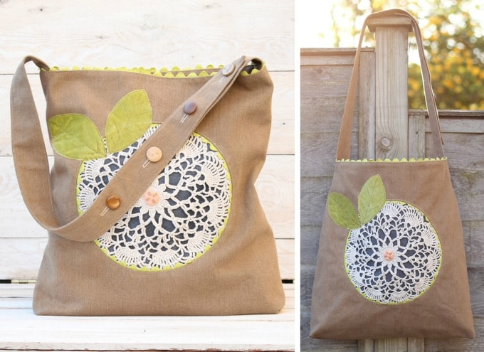 doily flower bag