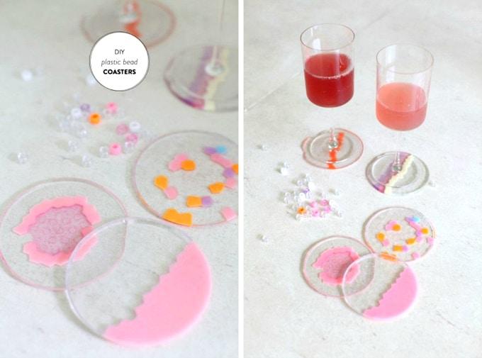 plastic bead coasters