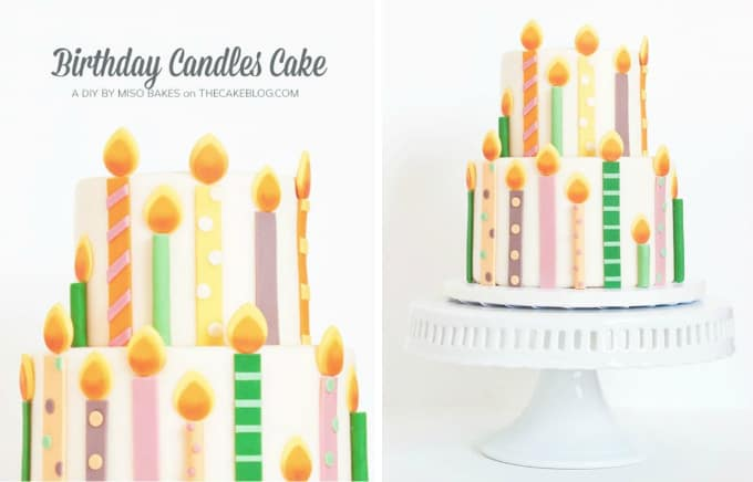 birthday candles cake