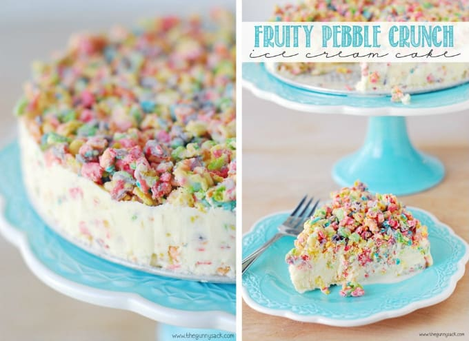 fruity pebble crunch cake