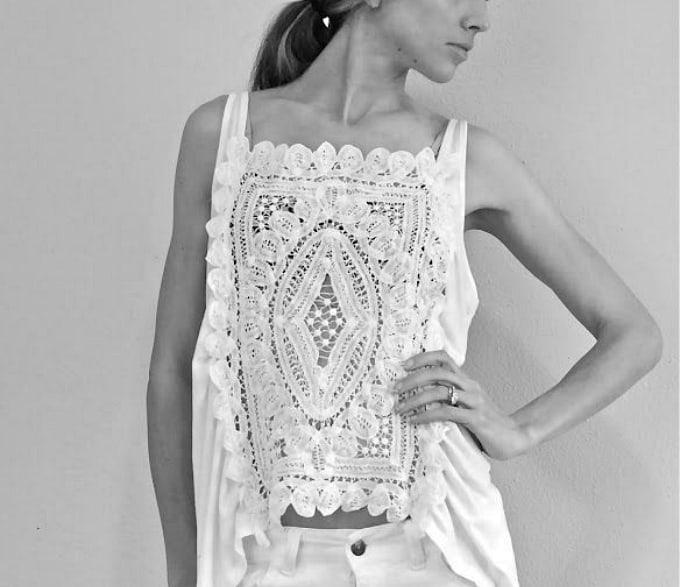 doily crochet blouse