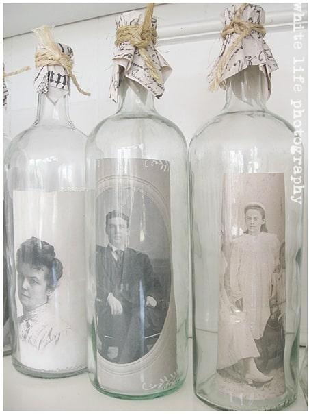 wine bottle photo holder