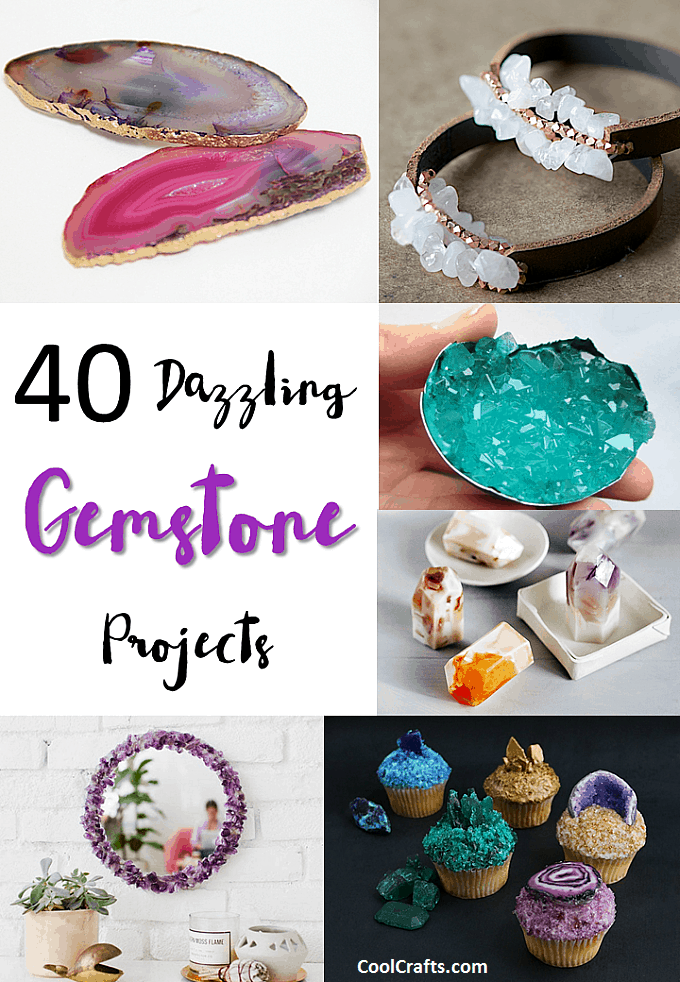 diy projects craft ideas 40 dazzling diy gemstone projects cool crafts 4257