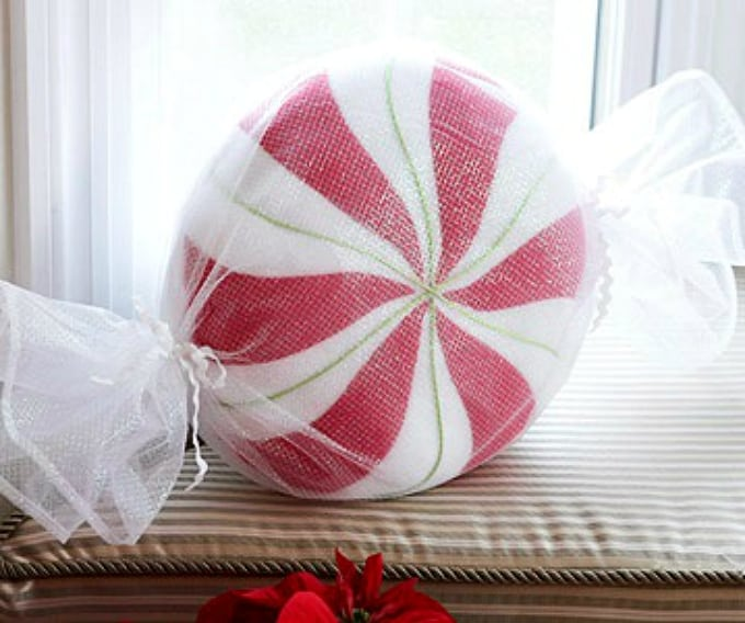 giant peppermint pillow