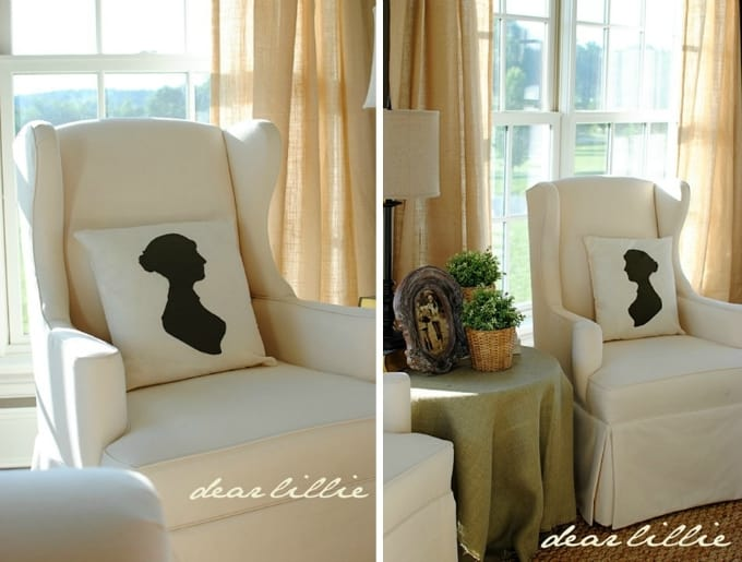silhouette pillows