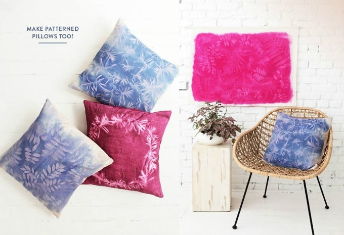 sun print cushion covers