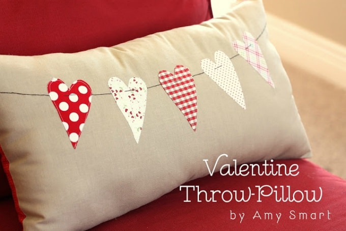 Valentine inspired throw pillow
