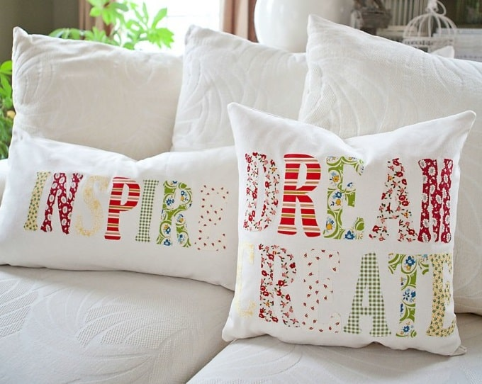 inspirational quote pillows