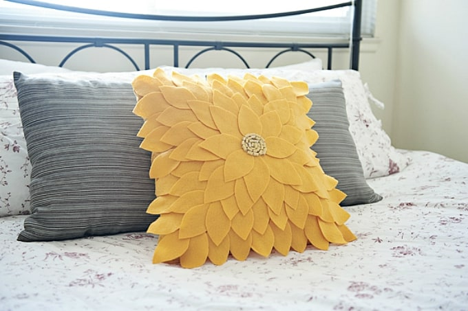 diy yellow cushion