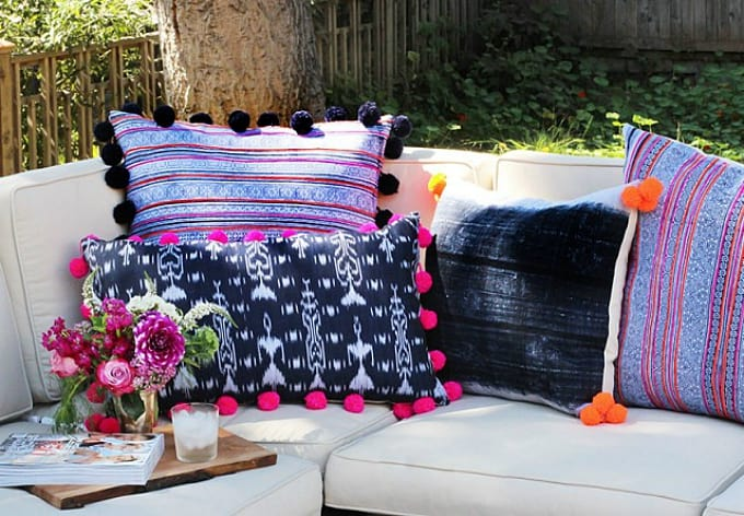 diy pom pom pillows