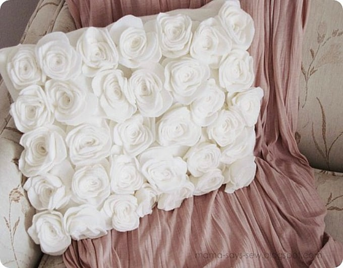 rosette pillow cover