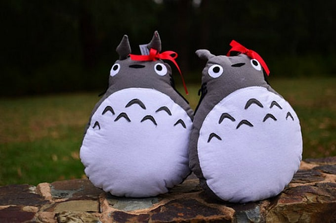 DIY Totoro cushions