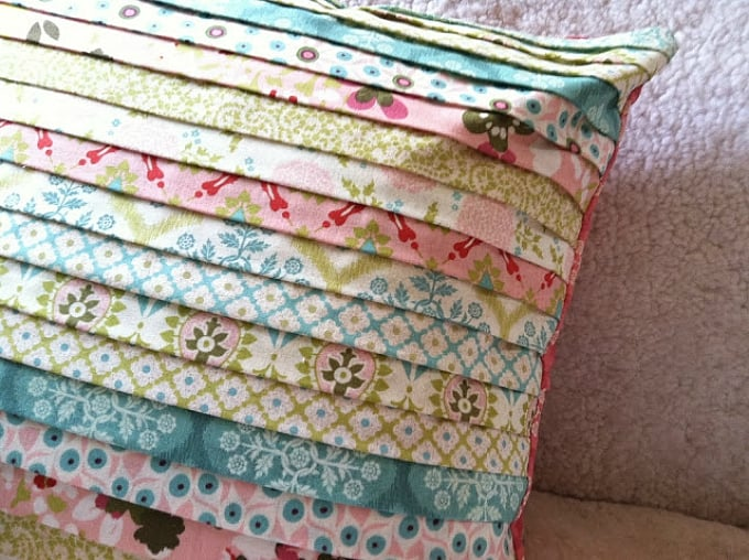 spring strippy pillow