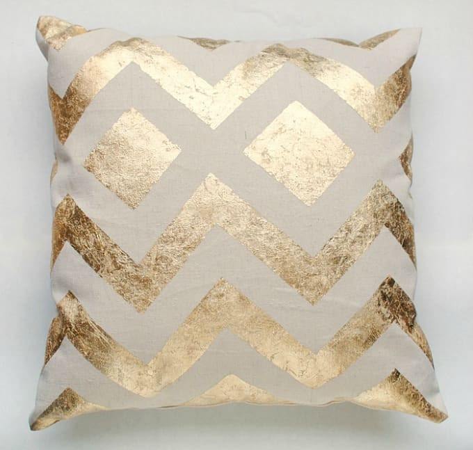 knock off metallic pillow covers