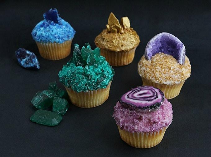 diy gemstone cupcakes