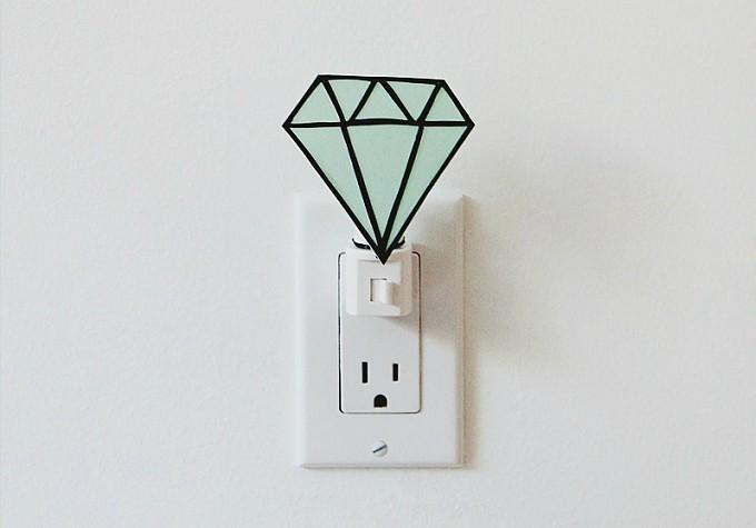 gemstone night light