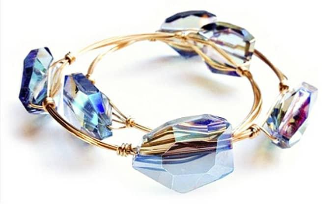gemstone bangle bracelets