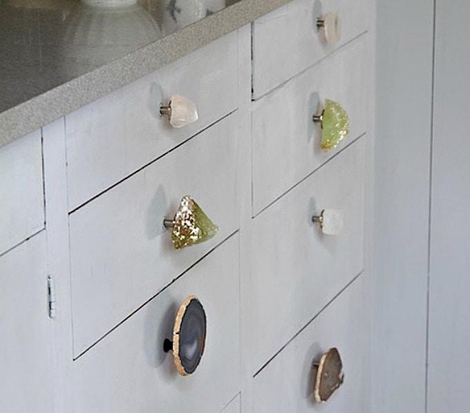 diy gemstone drawer pulls
