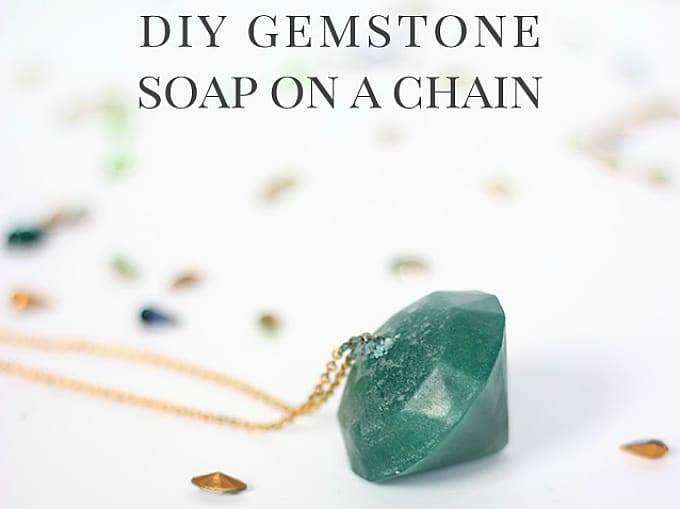 gemstone soap on a chain