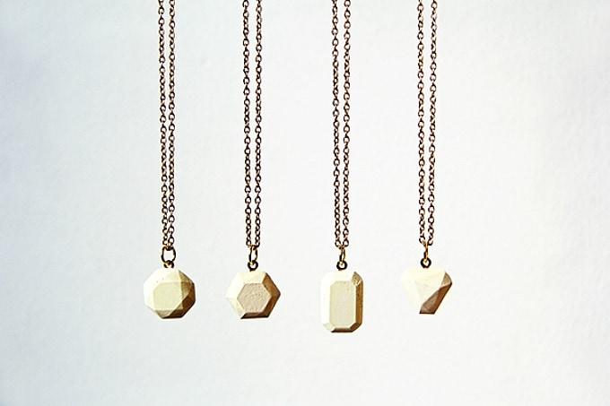 concrete gemstone necklaces