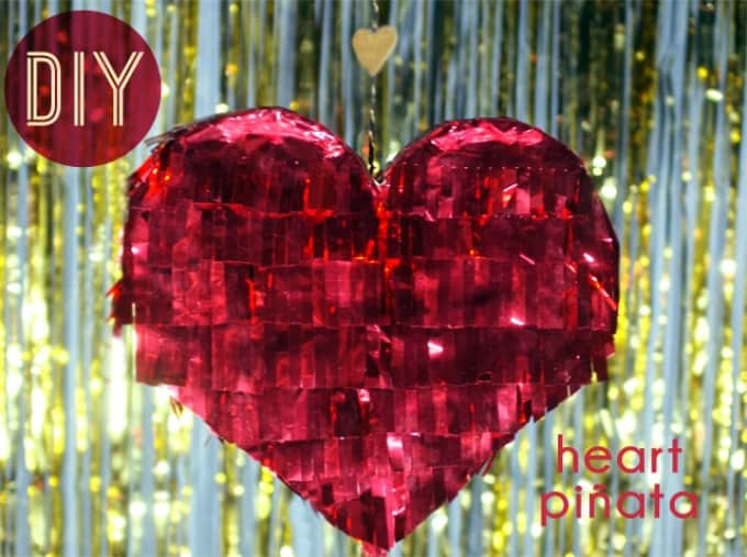 DIY heart piñata