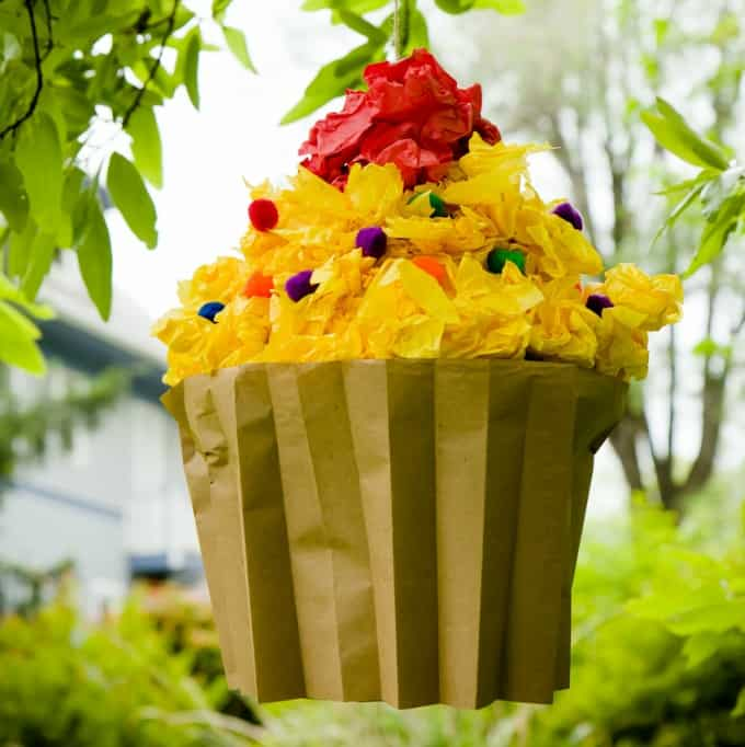 cupcake themed piñata