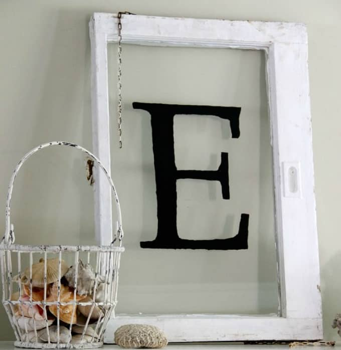 antique monogram window