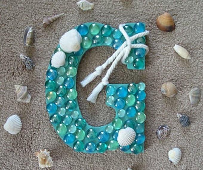 coastal monogram letter