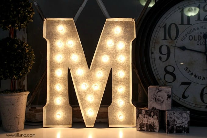 marquee monogram light