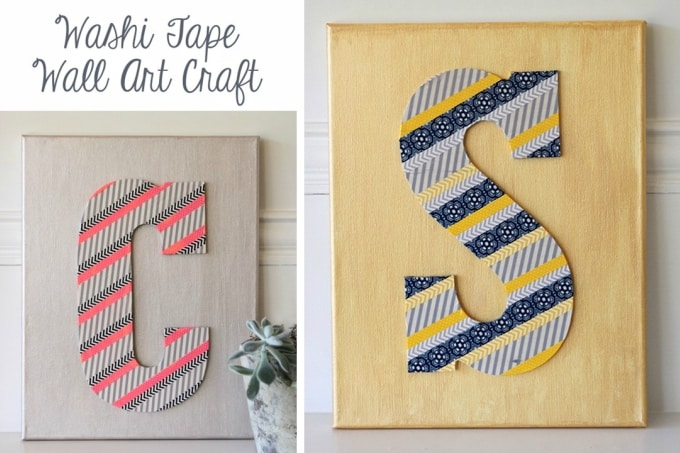 Washi tape monogram letters
