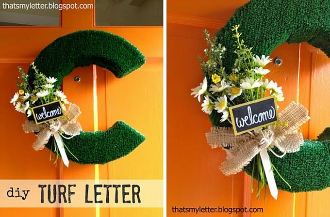 DIY turf letter