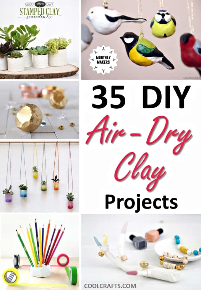 35 diy air dry clay projects that are fun easy. Black Bedroom Furniture Sets. Home Design Ideas