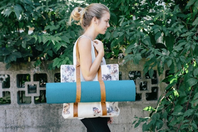 leather yoga mat bag