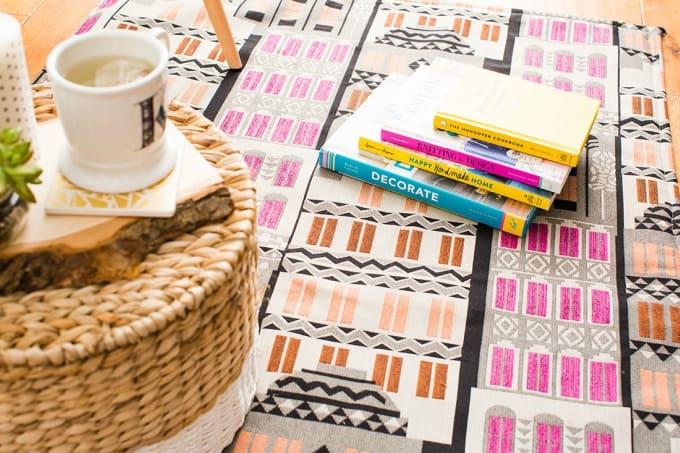 fabric rug